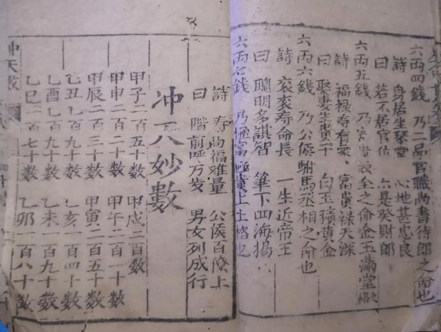 《冲天神数》清代木刻本(术藏第95卷)
