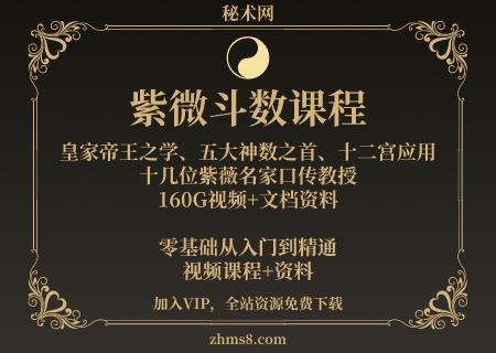 紫微斗数课程合集160G,王亭之、令东来、魏宏卿、陈龙羽、梁若瑜等