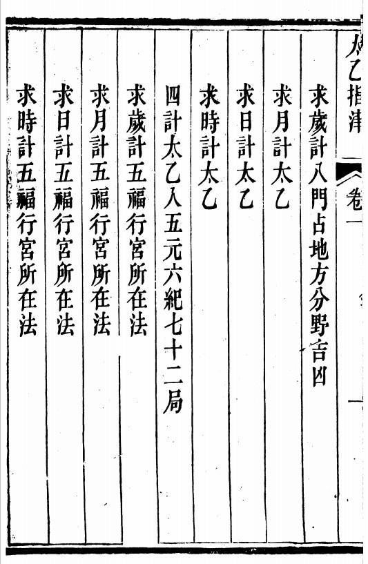 《太乙指津》裕福堂藏版 吕士清 全四卷(子部珍本备要012)